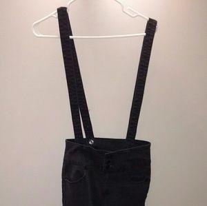 Forever 21 black denim overalls medium